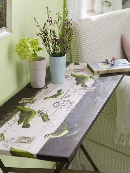 decoupage tabletop