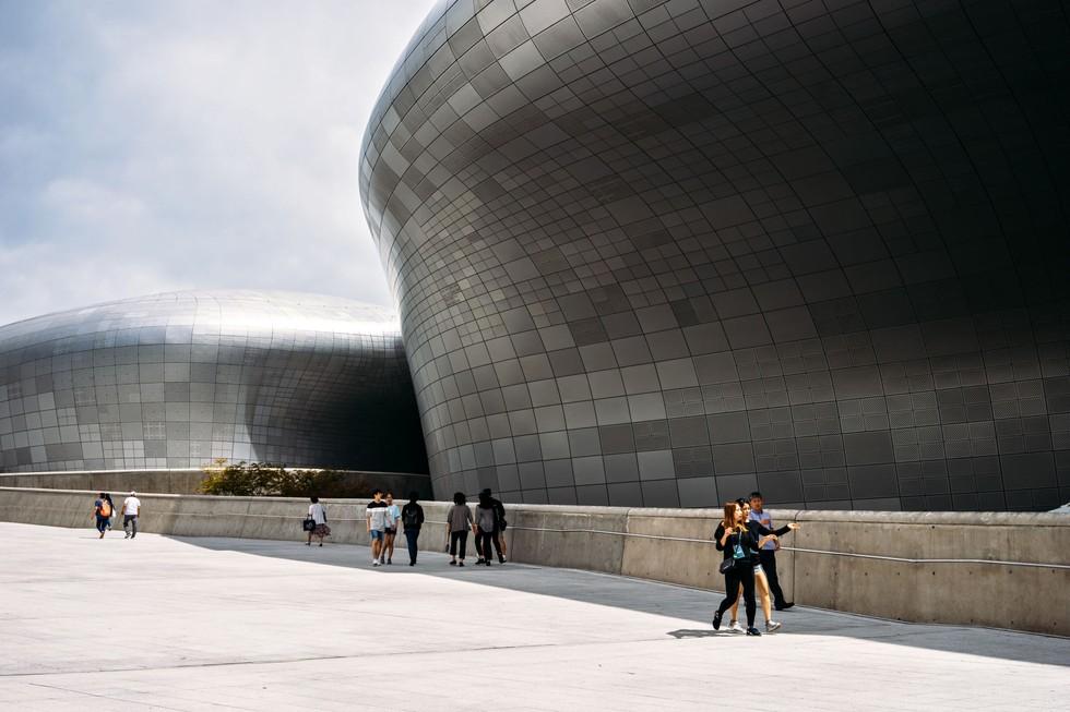 The Zaha Hadid–designed Dongdaemun Design Plaza