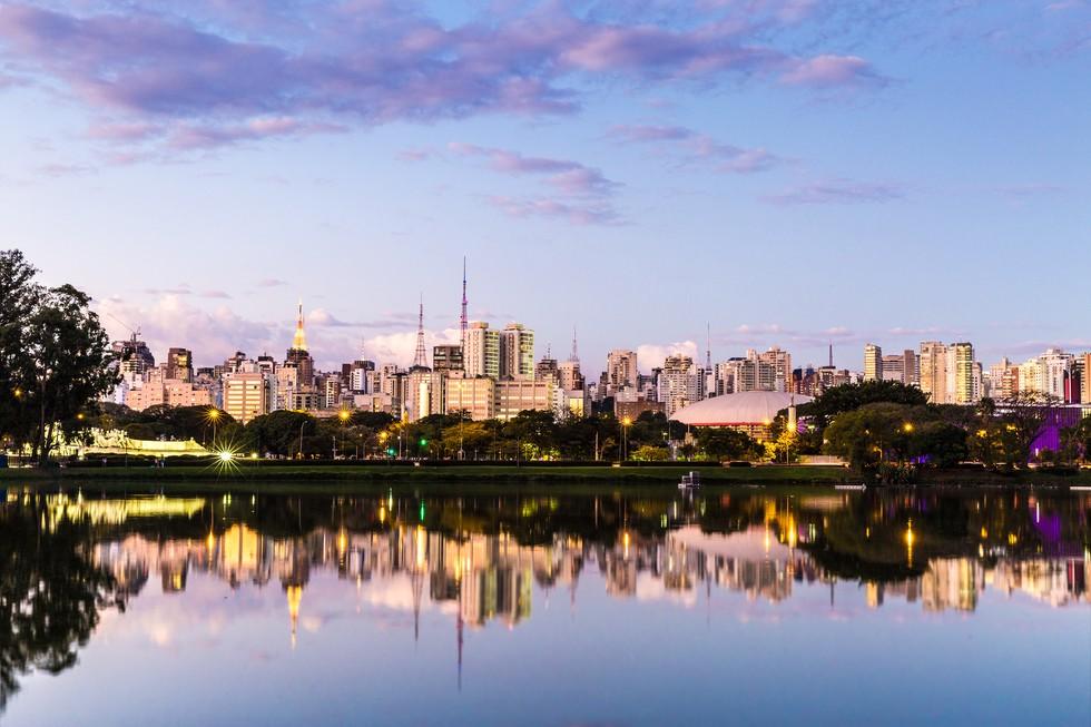 A skyline view of São Paulo in Brazil