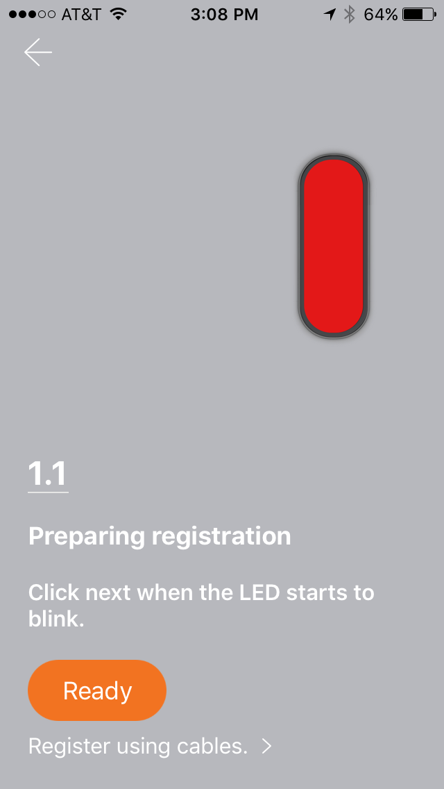 When registering your product, make sure your SmartCam device is plugged in and the LED light is blinking.