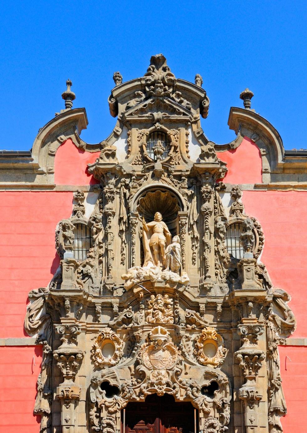 The Baroque entrance of the Museo de Historia