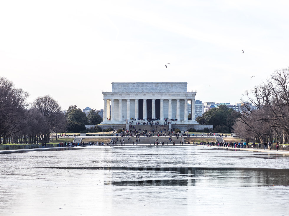 Lincoln Memorial in Washington D.C. during winter.