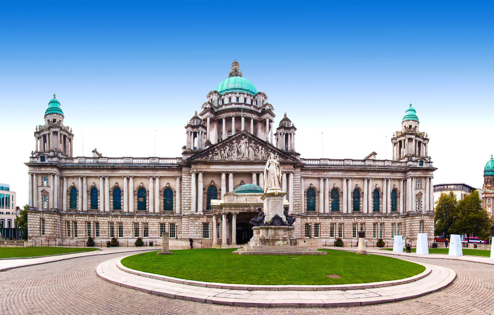 Belfast city hall in North Ireland