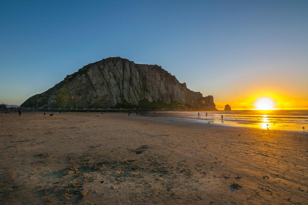 Sunset on the beach in San Luis Obispo, California