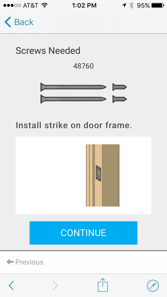 Installing Strike on Door Frame