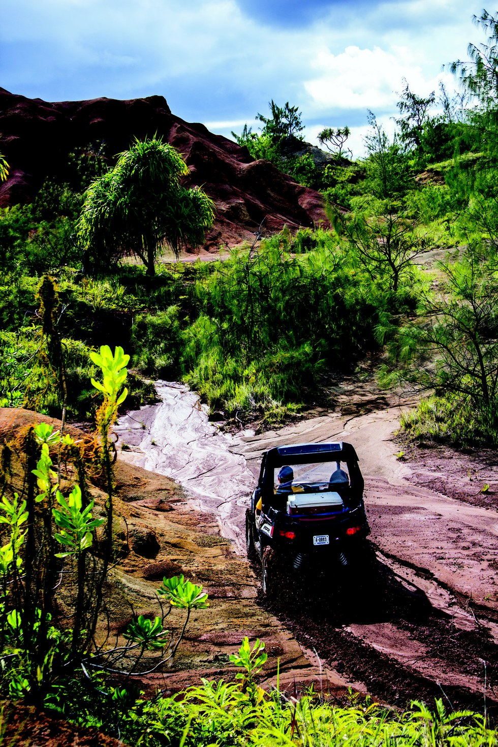 Off-roading in Guam's red-dirt hills with Jungle Rules Adventure Tours