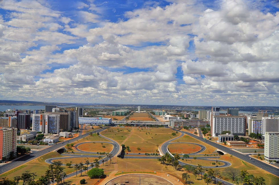 An aerial view of the city of Brasília