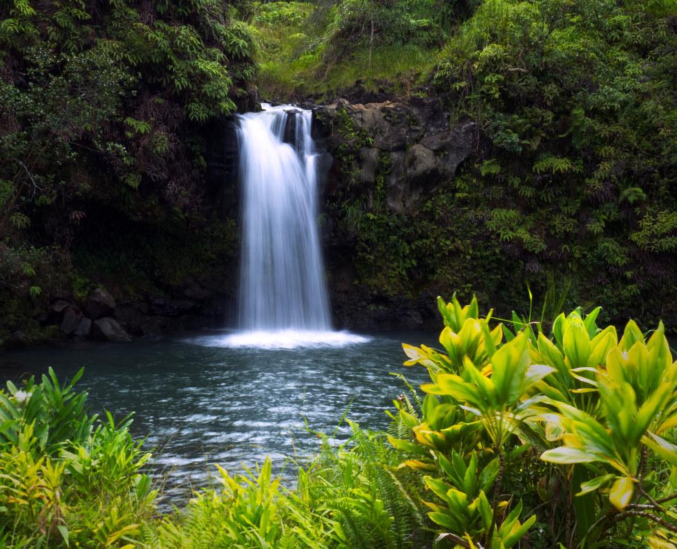 Waterfall in Kahului, Hawaii