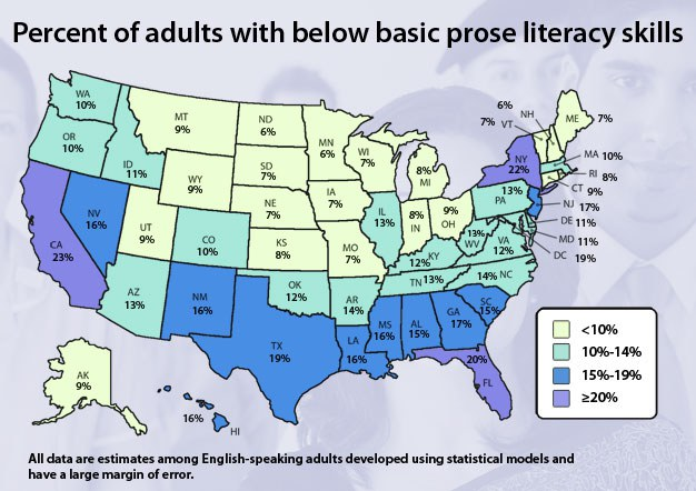 Get Literate - Us literacy map
