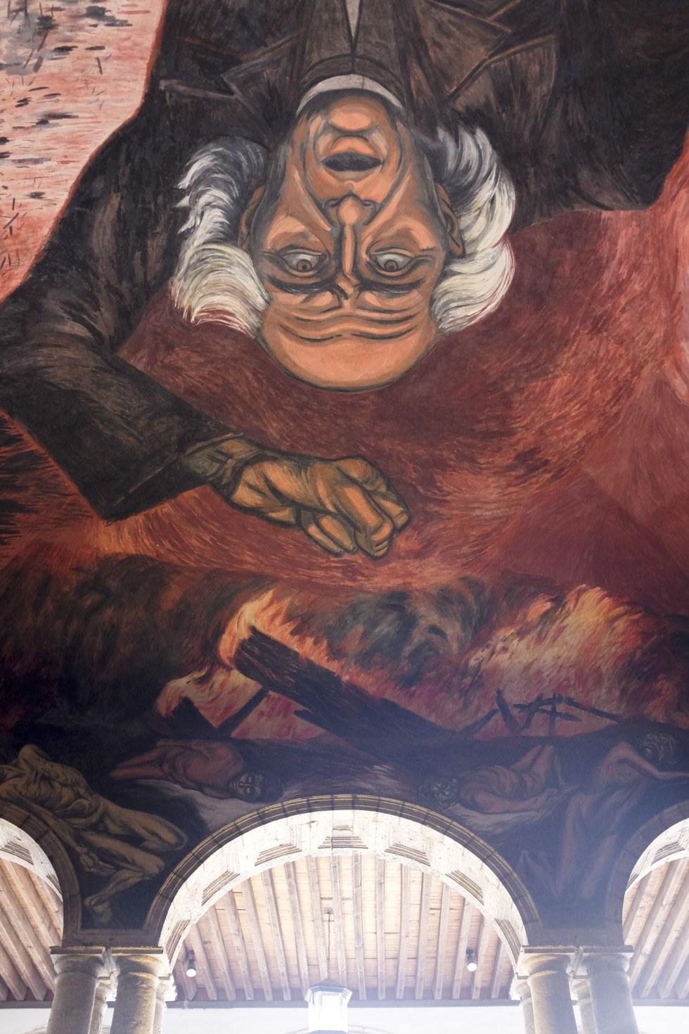 An Orozco mural at the Palacio de Gobierno