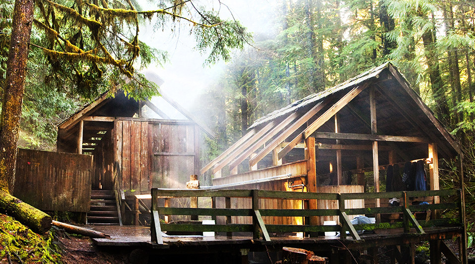Bagby Hot Springs in the forest in Oregon