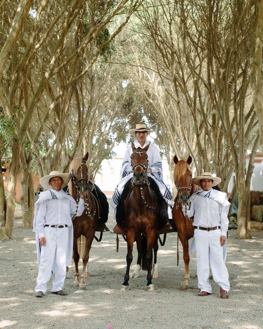 Three caballeros at Casa Hacienda Los Ficus