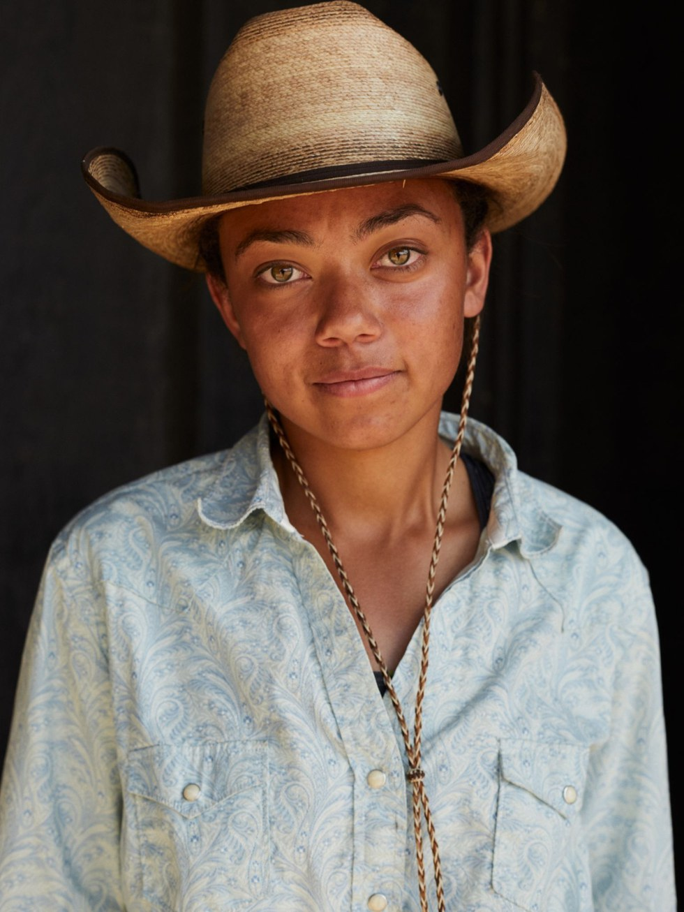 A cattle wrangler at Paws Up