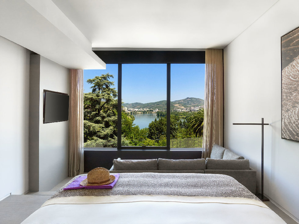 A room at the Six Senses Douro Valley in Portugal