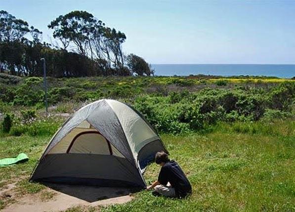 Camper at Manresa State Beach in Santa Cruz