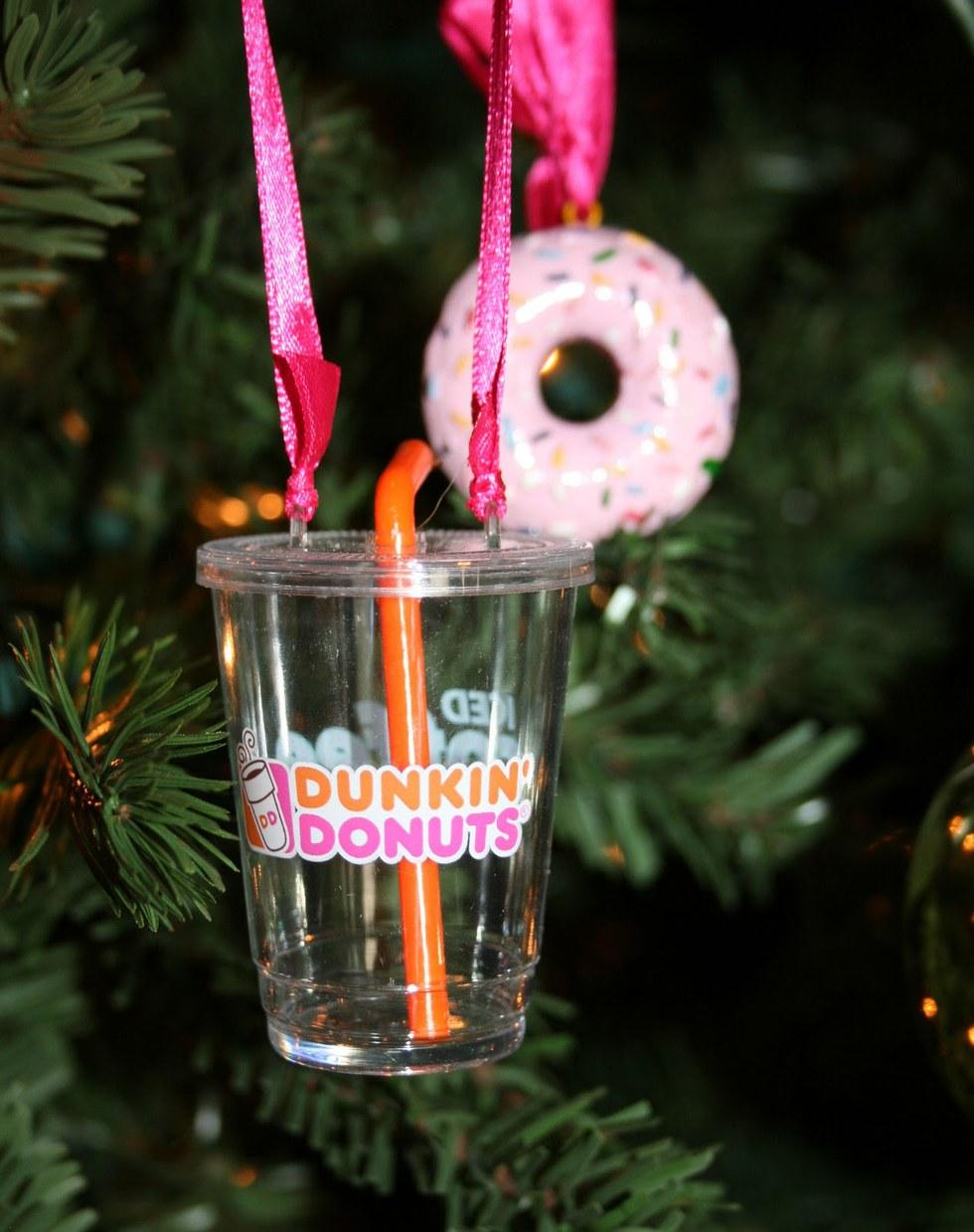 And Your Christmas Tree Is Basically Just Decorated With Dunkin' Ornaments