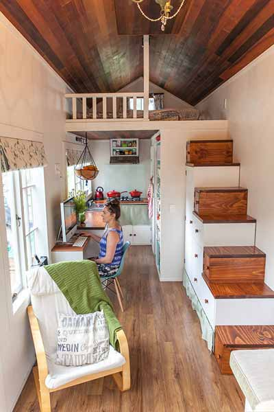Tiny houses with space smart storage ideas