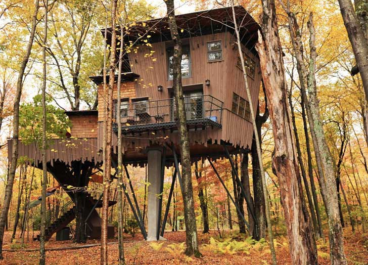 Treehouse cottage at Winvian Farm