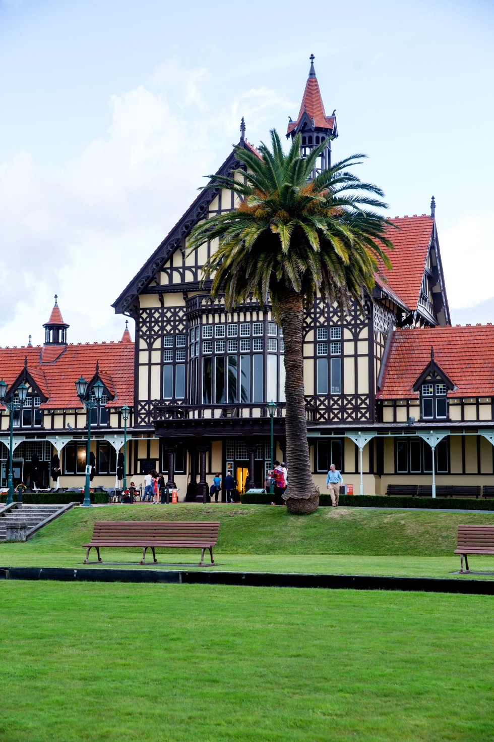 A view of The Rotorua Museum in the city's old Bath House building