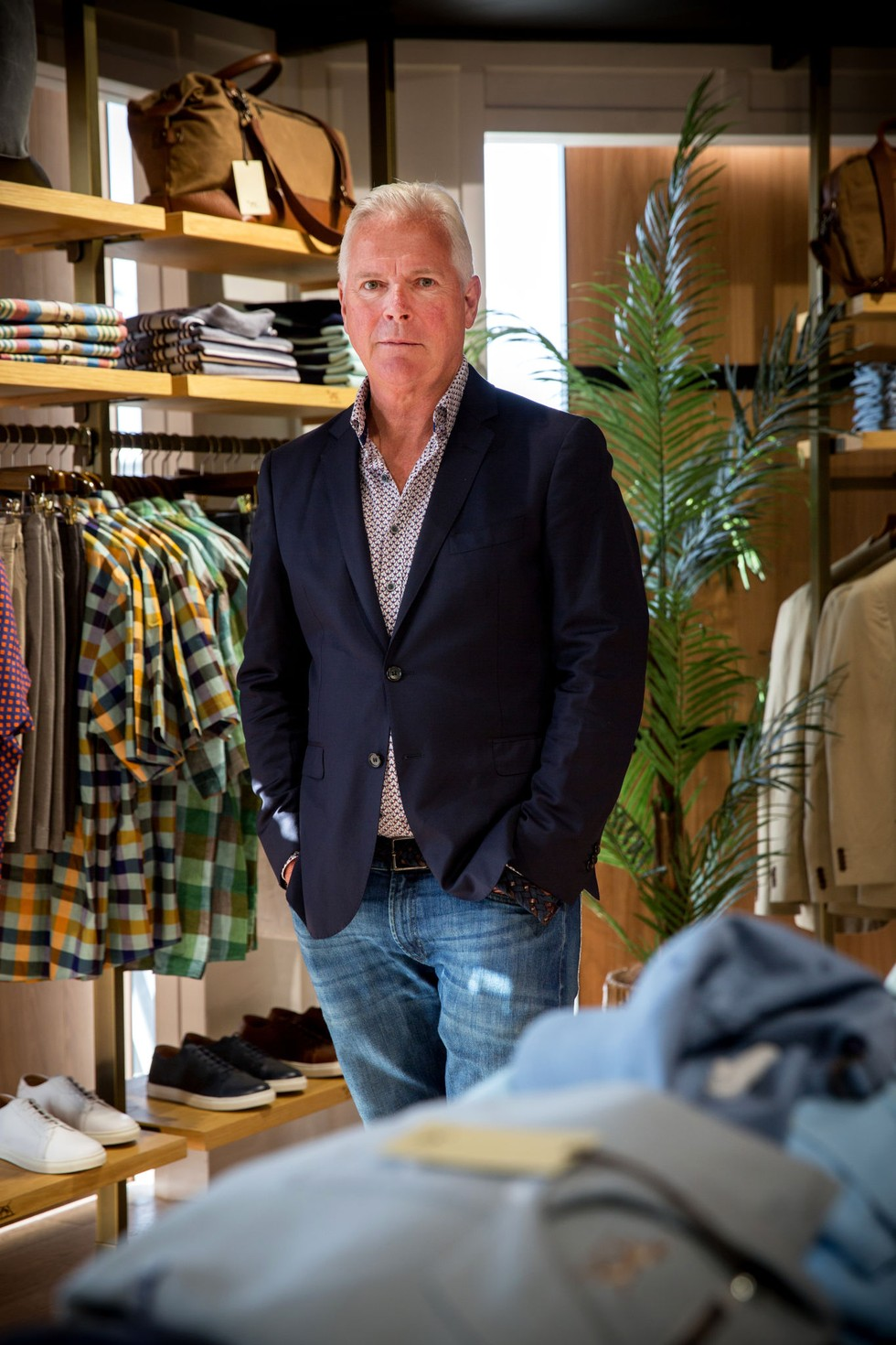 Mike Beagley. who is the Managing Director of menswear brand, Rodd & Gunn