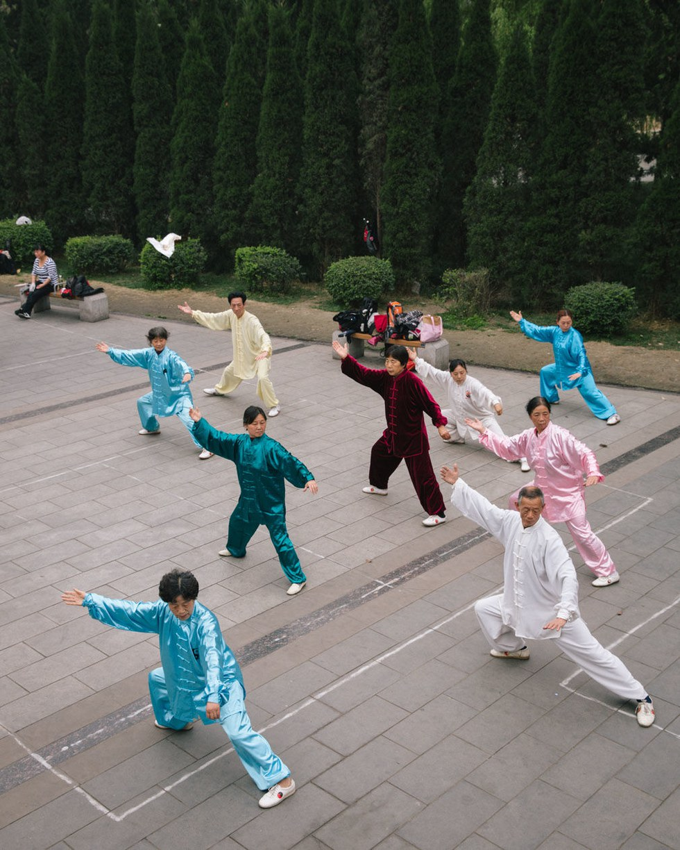 Saturday tai chi practice in People's Park