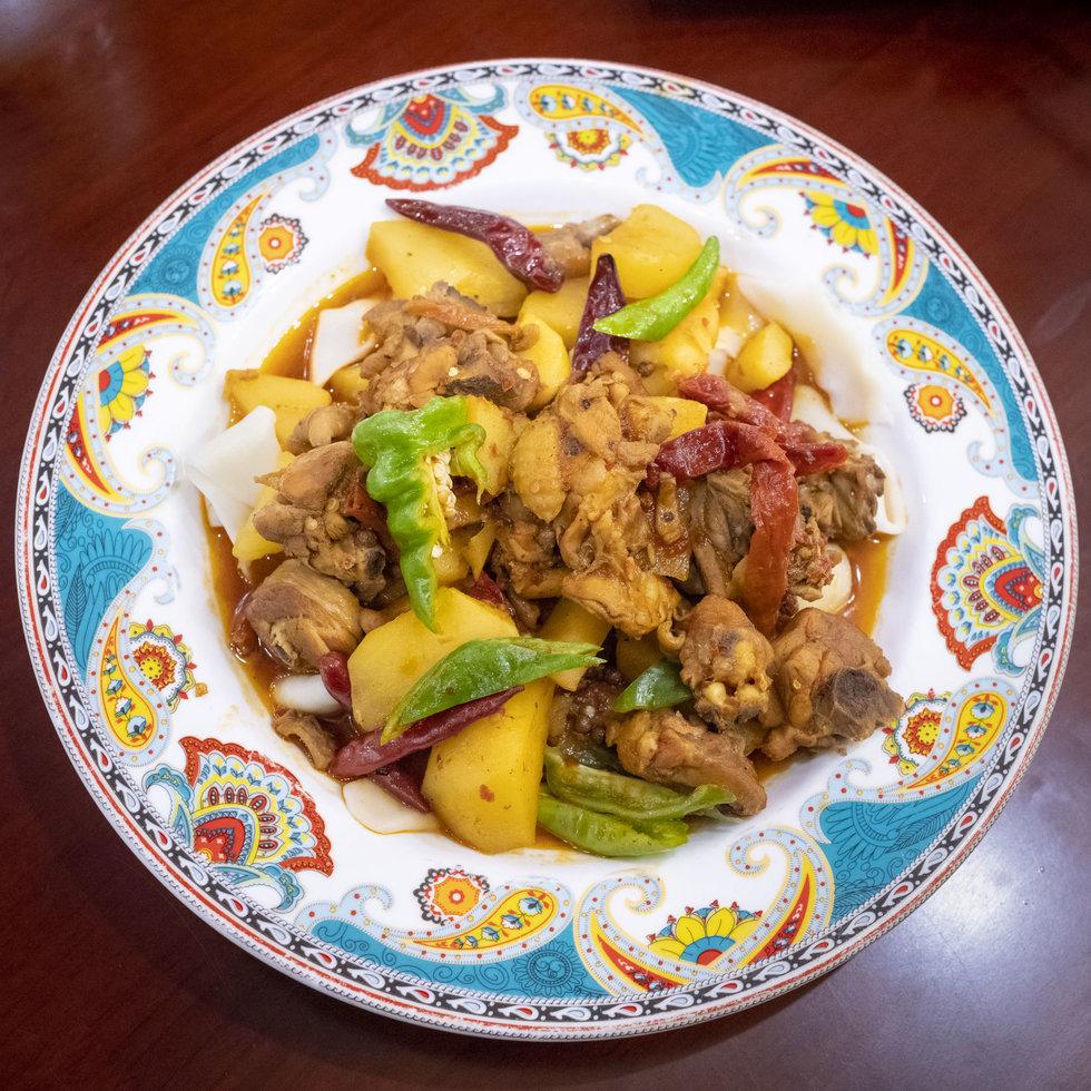 Uighur food at Xinjiang Bayi Laoye