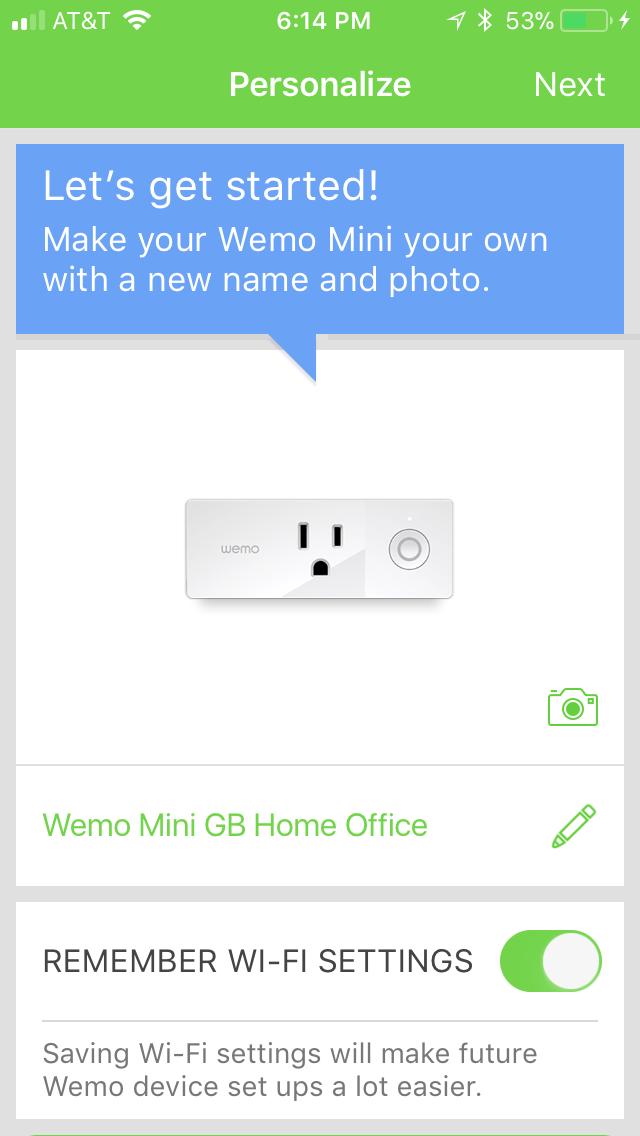 Now Ready to Use Wemo Mini Smart Plug