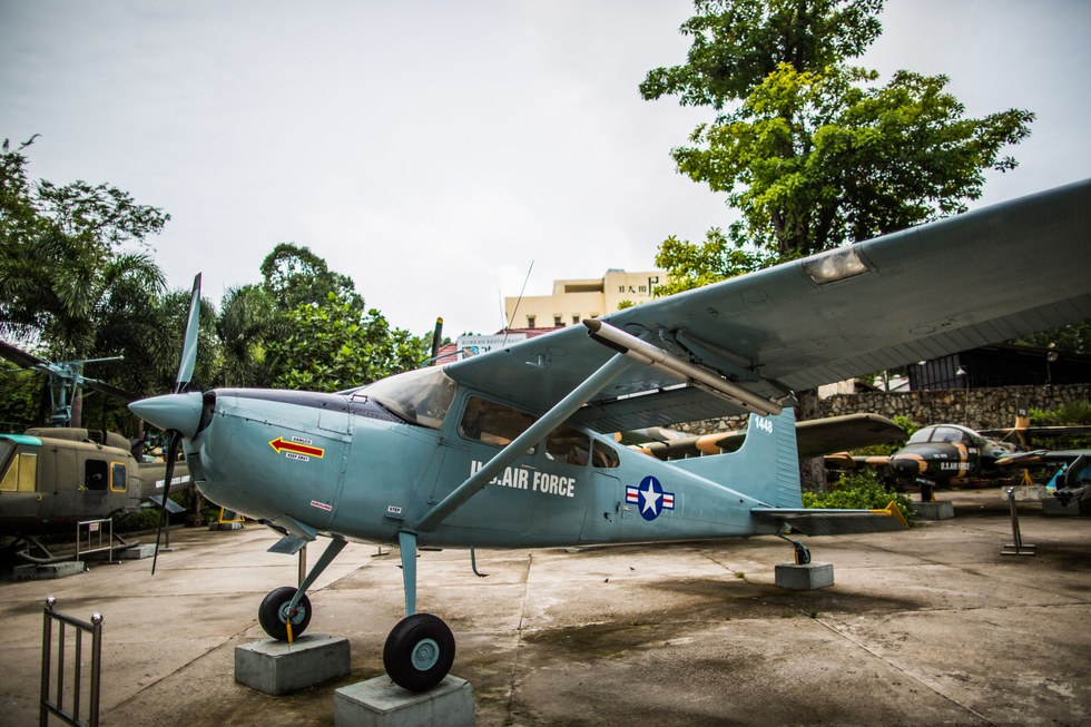 A fighter plane at the War Remnants Museum