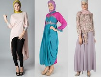 Gambar Foto Desain Baju Muslimah untuk Lebaran