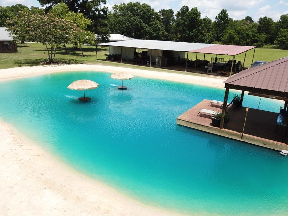 Beach Pool Construction : This southern company can put a beach in your backyard