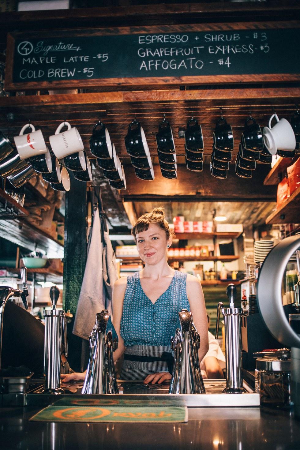 "A barista at \u201cbeer and breakfast"" spot Gralehaus"