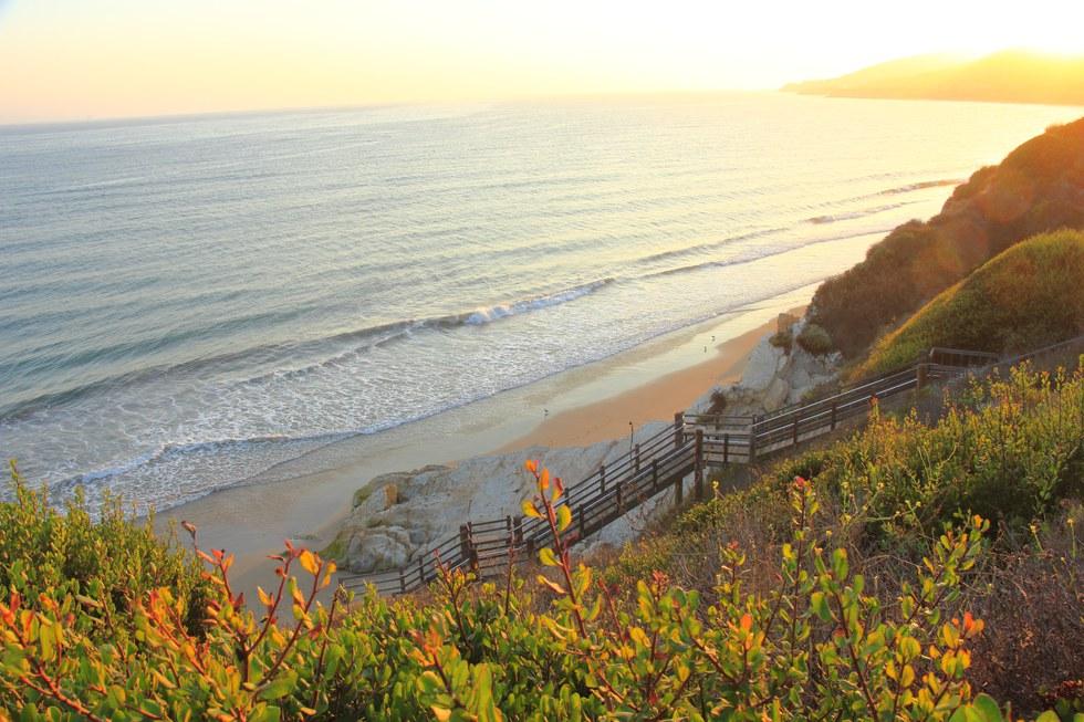 Sunset over Channel at El Capitan Beach Near Santa Barbara, Caifornia