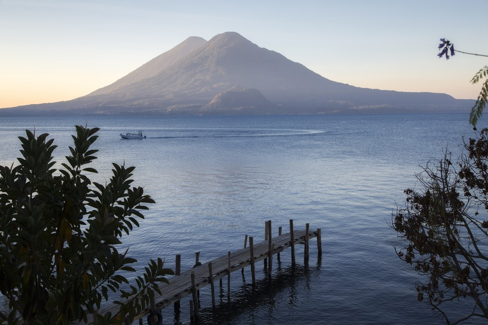 One of the 3 volcanoes along Lake Atitlan in Panajachel