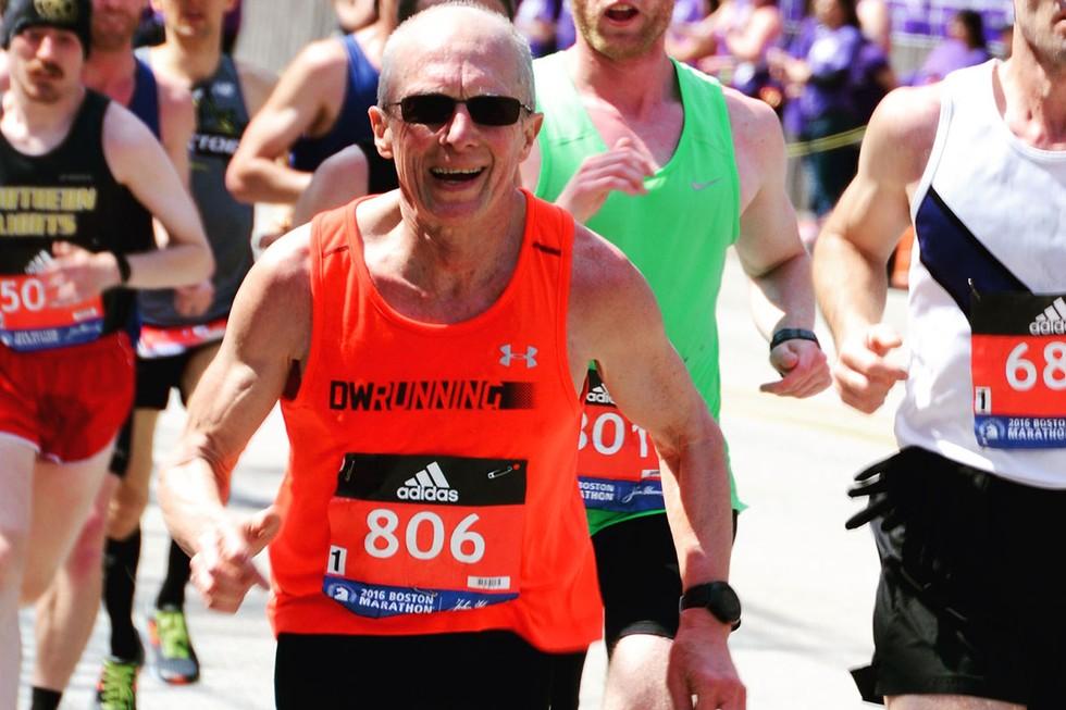 Captain Dave Walters in the Boston Marathon