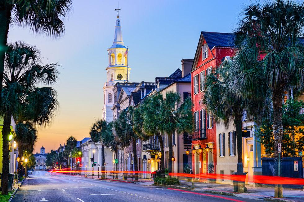 City of Charleston at dusk