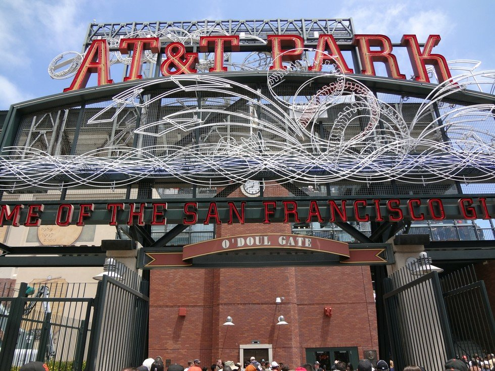 Entrance view of AT&T Park
