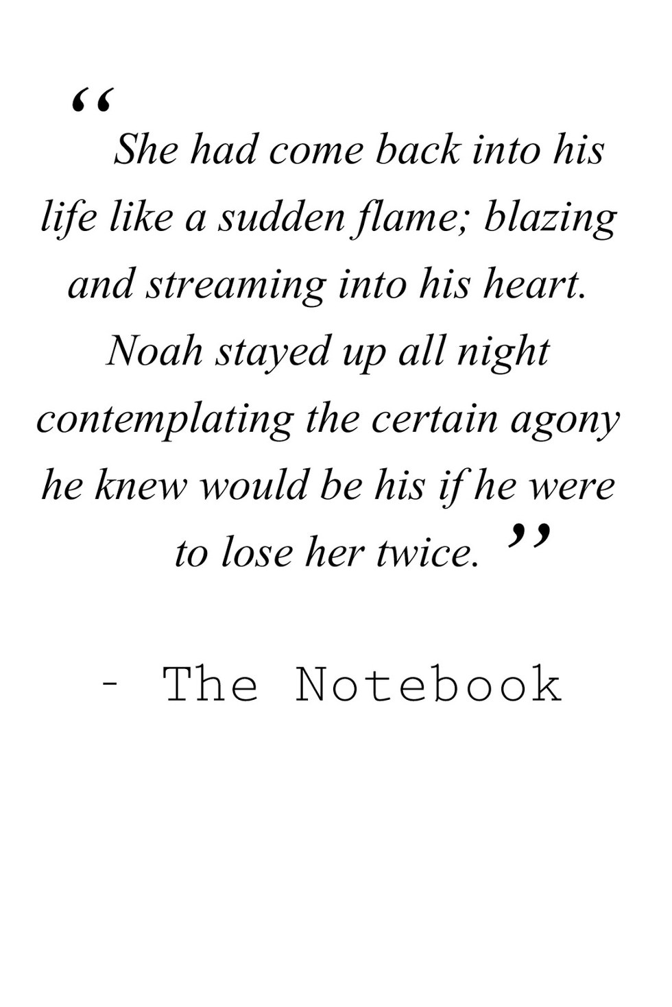 The Notebook\' quotes