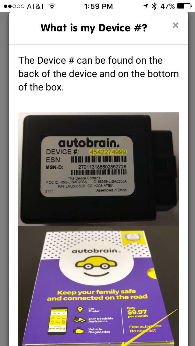 Activate your Autobrain using Device ID