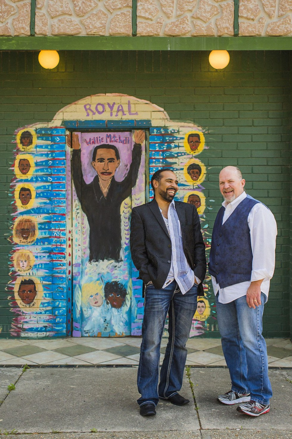 "John Doyle, Executive director, Memphis Rock 'n' Soul Museum (with Lawrence \u201cBoo"" Mitchell, manager, Royal Studios, left)"