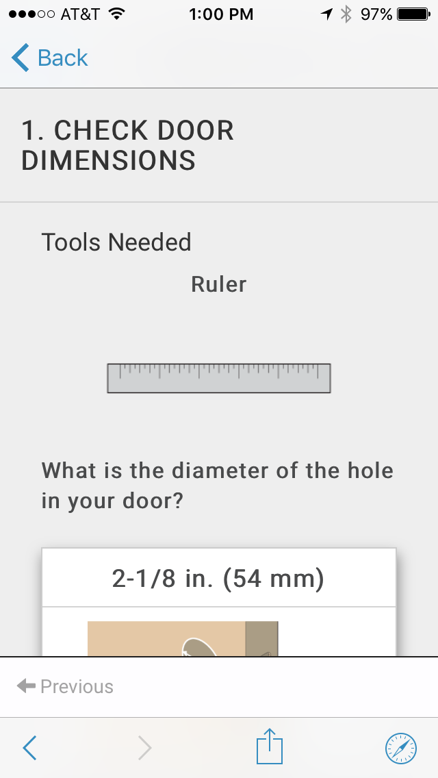 Checking the Dimensions of Your Door
