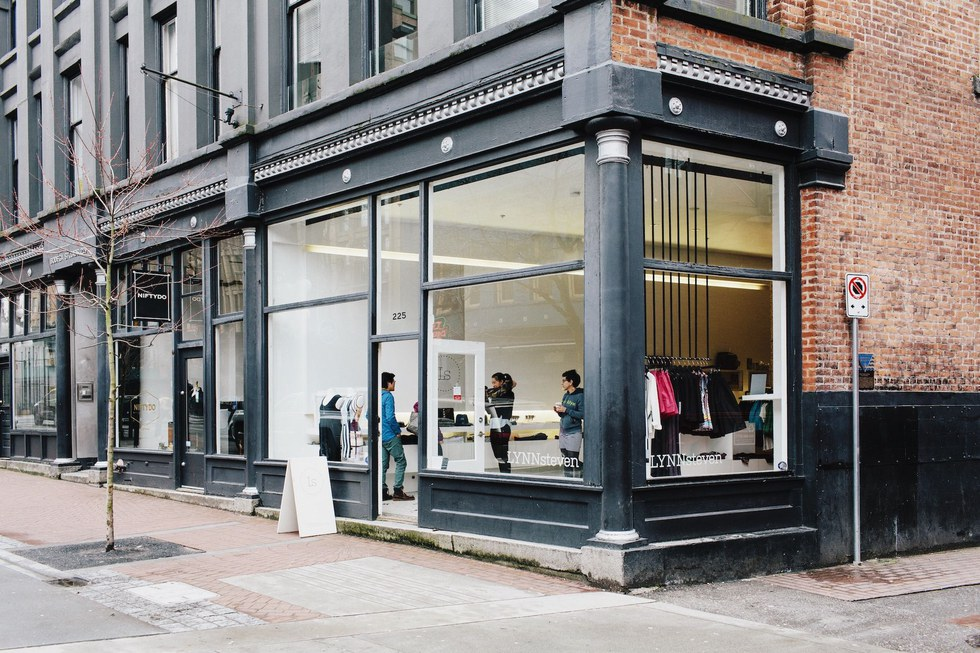 The chic LYNNsteven boutique in historic Gastown