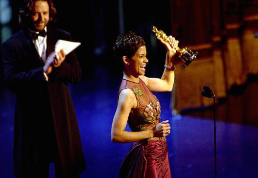Halle Berry with her Oscar (2002)
