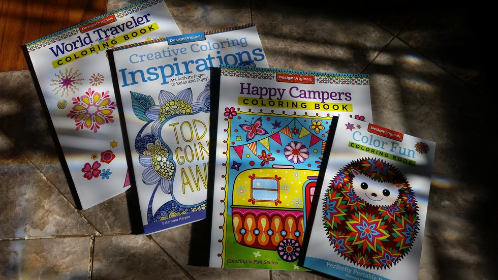 the new trend coloring books