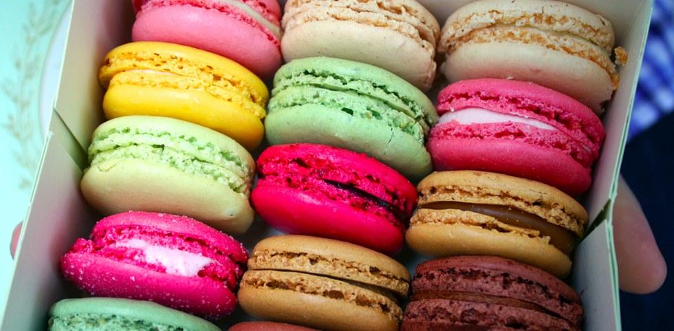 Colorful macarons in Paris
