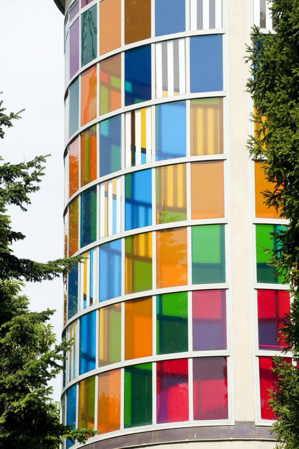 The Triennale's kaleidoscopic tower