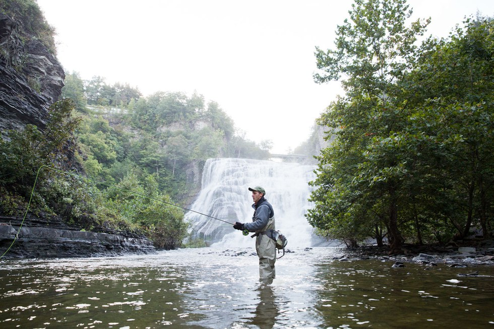 Fly fishing with Mark Moskal