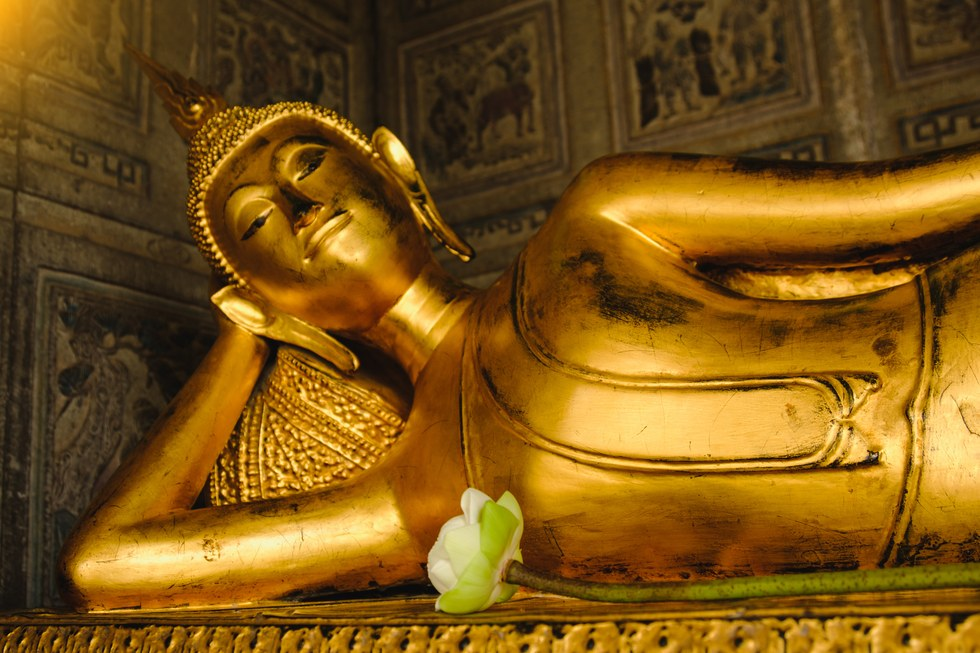 Temple of the reclining Buddha in Bangkok