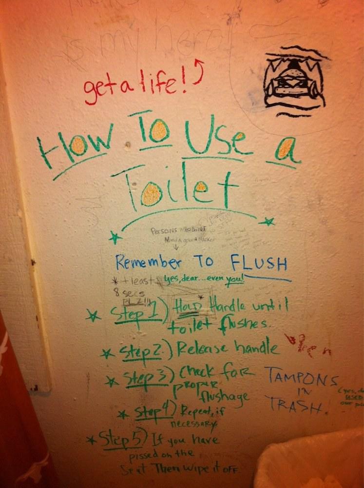 Bathroom Wall Writing diary of a bathroom stall