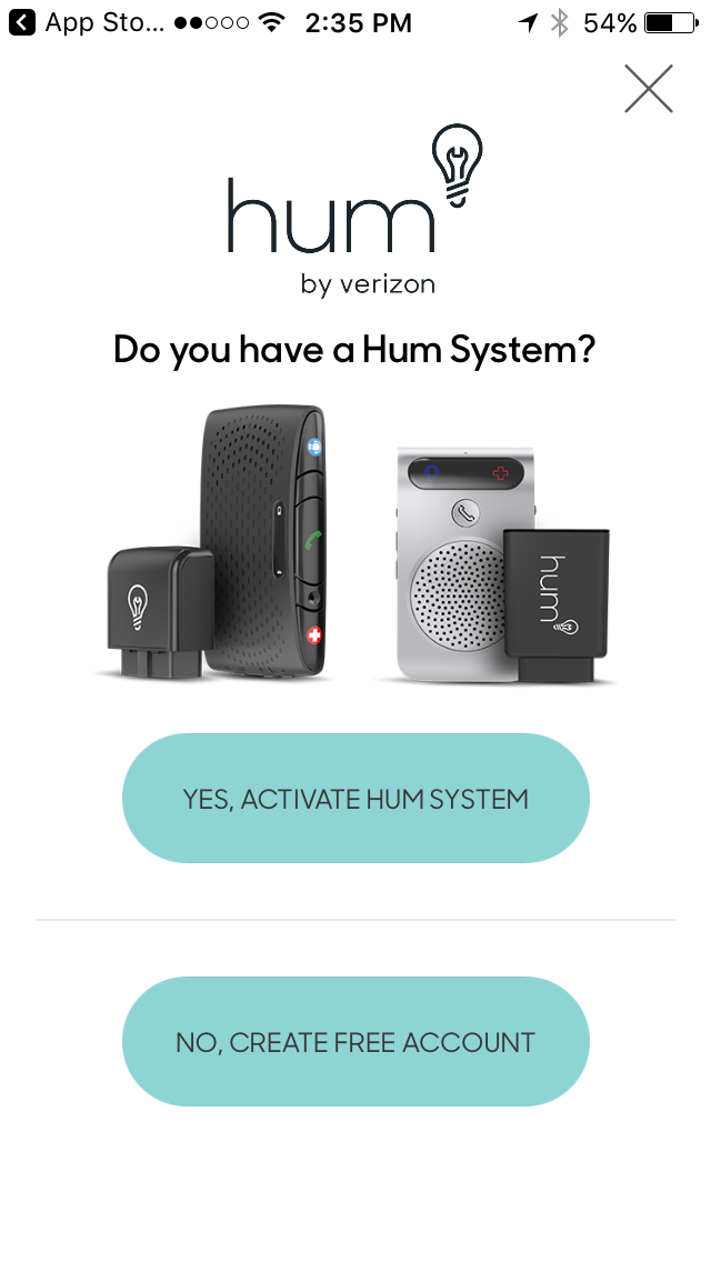 Activate your HumX through the Hum app.