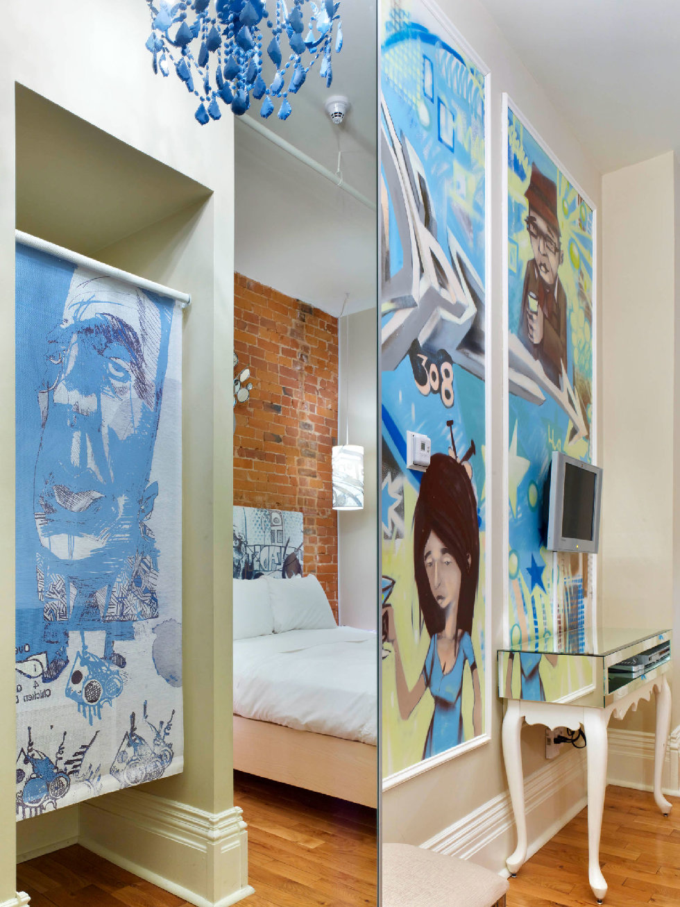 An artist-designed room at Toronto's Gladstone Hotel